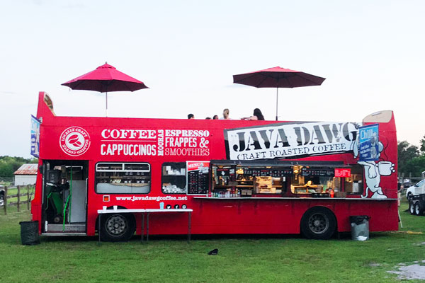 bus coffee truck for weddings
