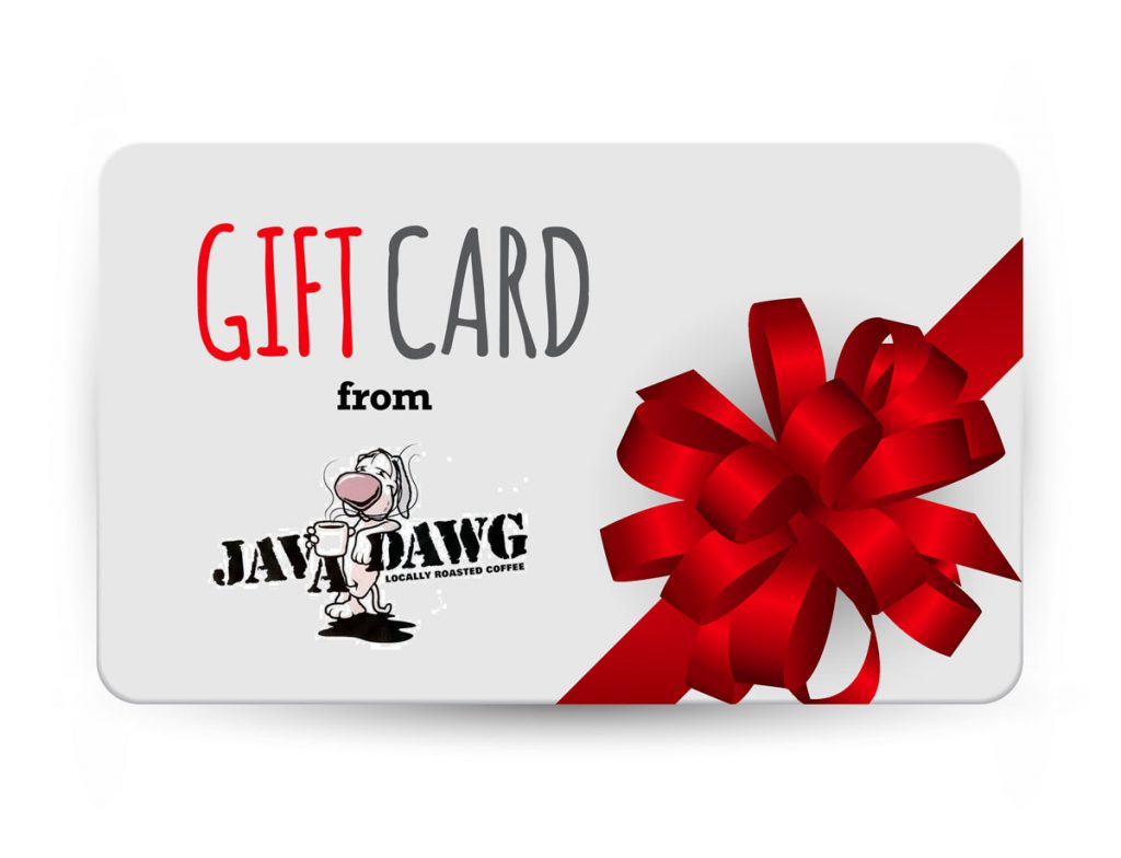 gift card javat dawg coffee